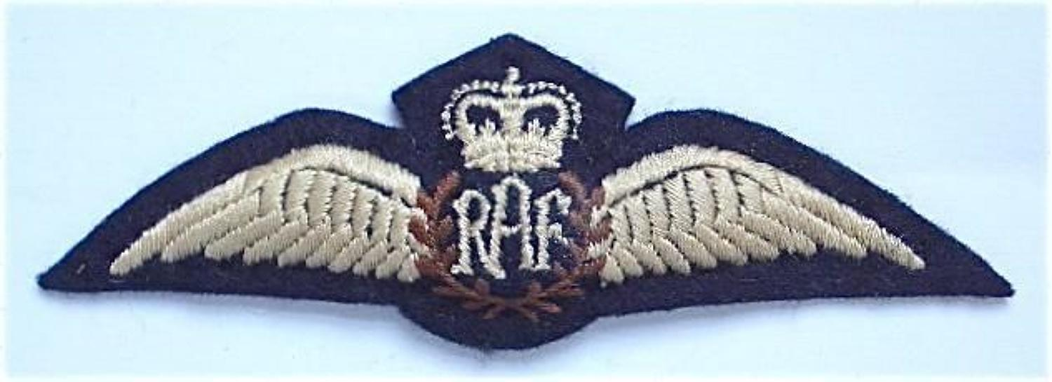 RAF Cold War Period  1960's / 1970's Padded Pilots Wings.