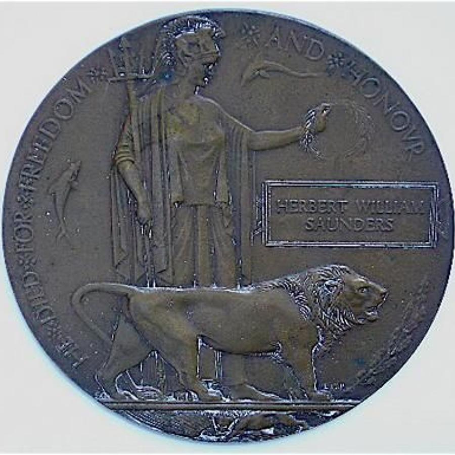 WW1 Memorial Plaque Essex or Army Service Corps