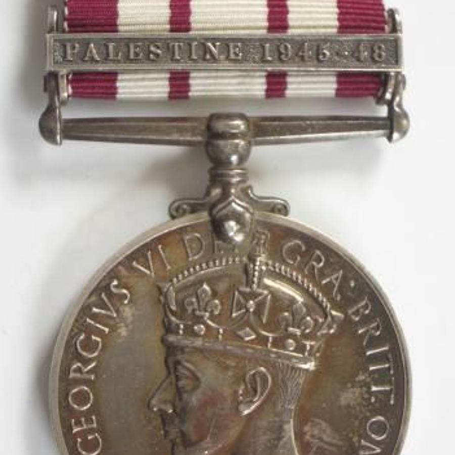 "Royal Navy Naval General Service Medal, clasp  ""Palestine 1945-48"""
