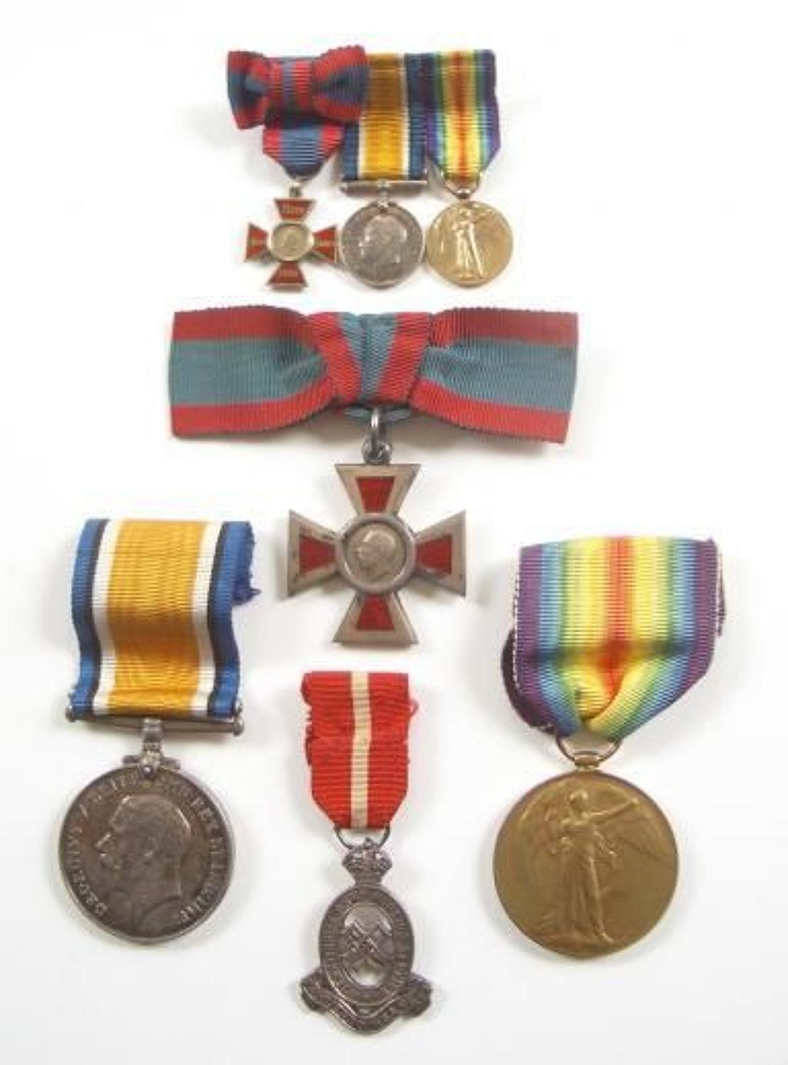 WW1 South Russia Territorial Force Nursing Service Medal Group