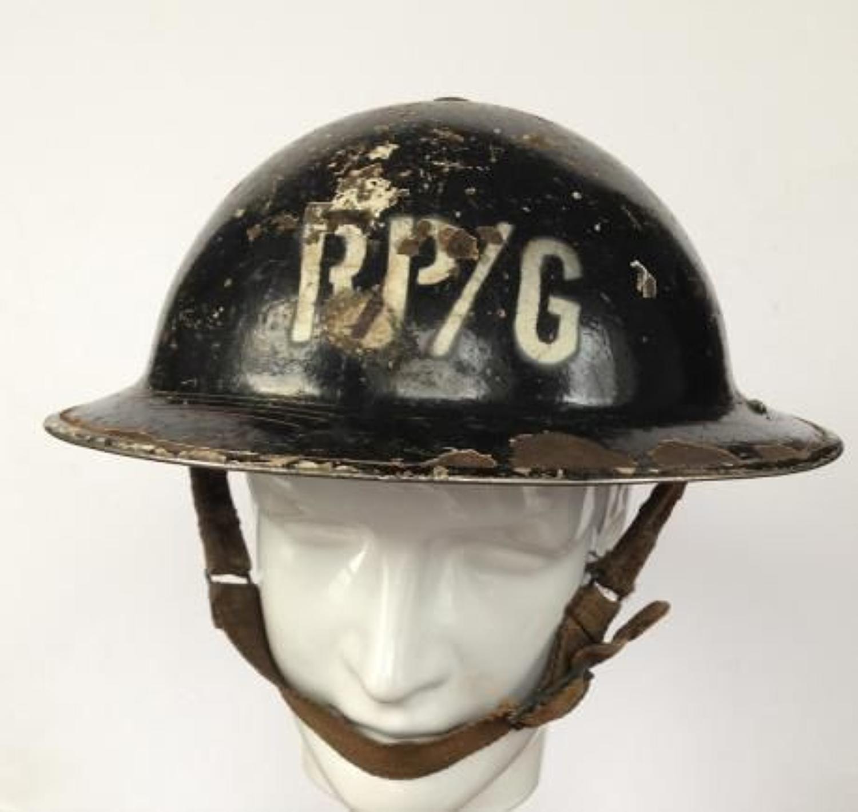 WW2 Home Front Civil Defence Repair Party Gas Steel Helmet
