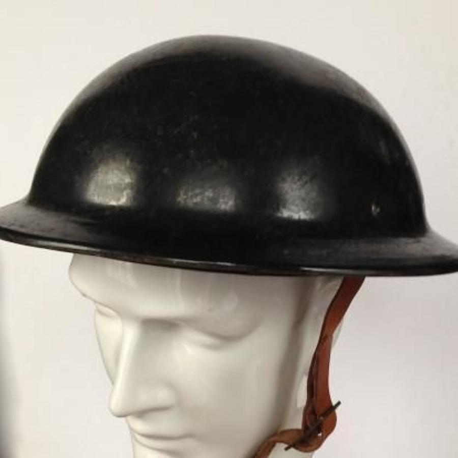 WW2 Home Front Civil Defence Fiber Helmet