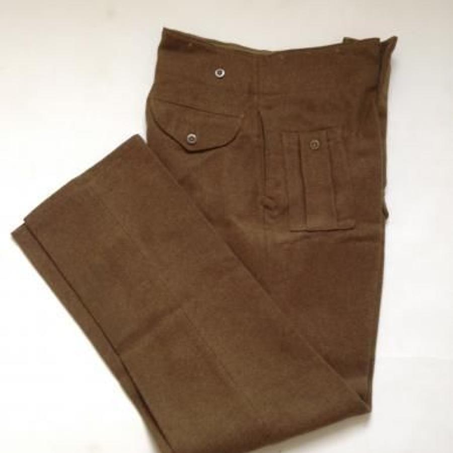 WW2 1944 Army Battldress Trousers.