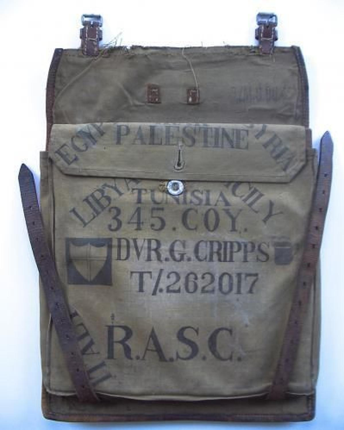 WW2 RASC Personalized Soldiers War Booty Map Case.