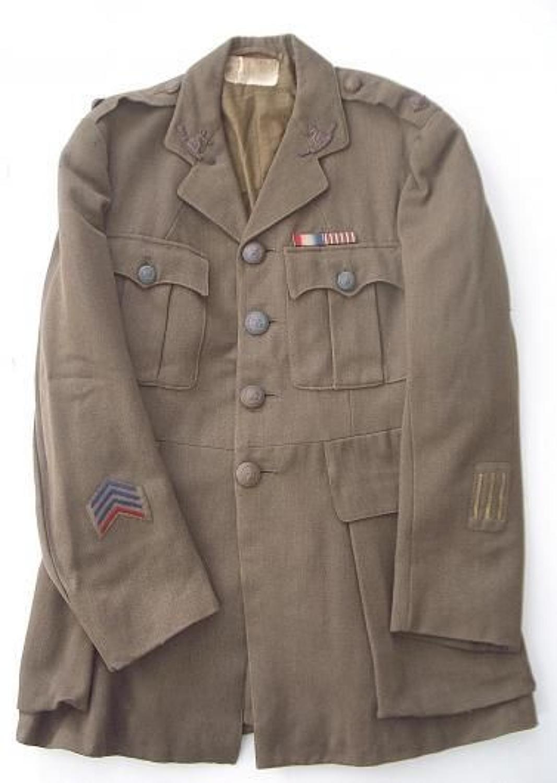 WW1 Period Norfolk Regiment Officer's Tunic.