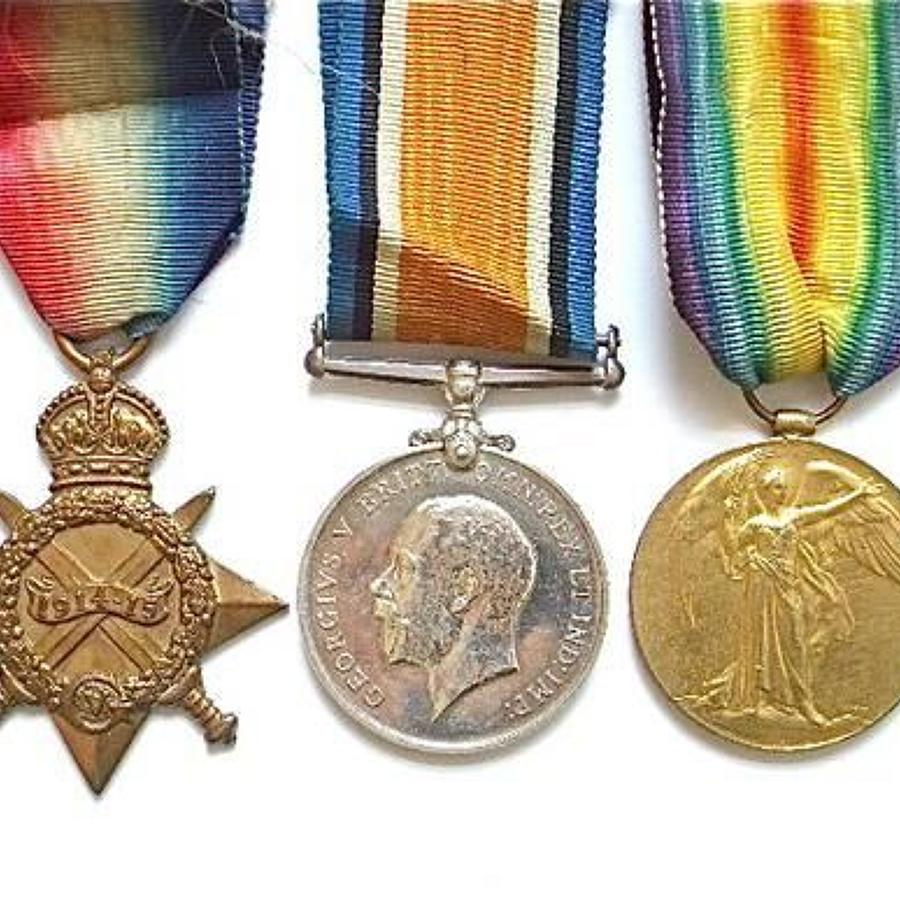 WW1 Royal Navy Casualty Officer's trio.