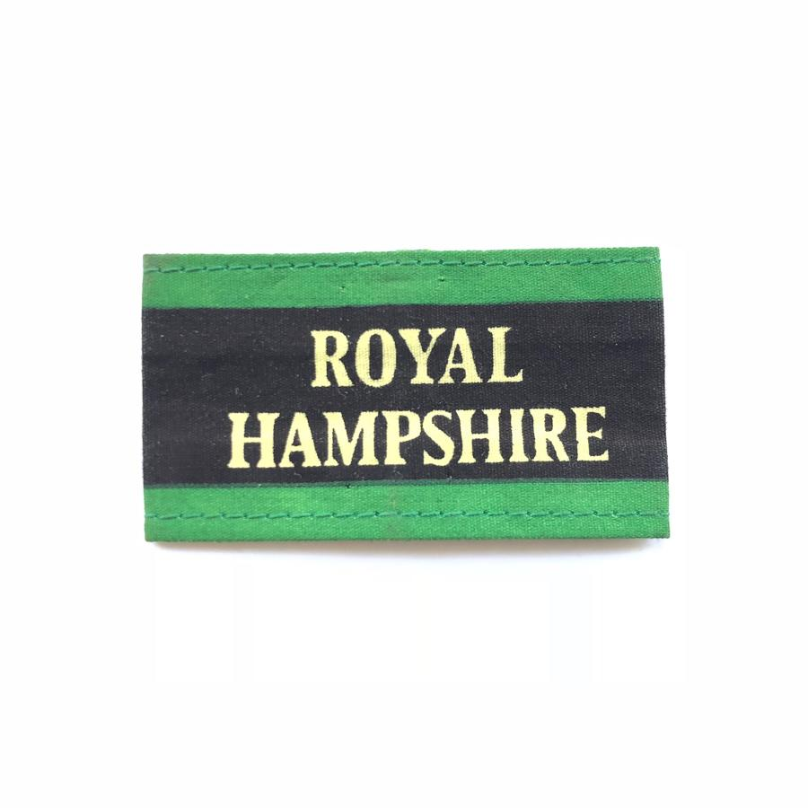 Royal Hampshire Regiment Slip on Cloth Shoulder Title Badge