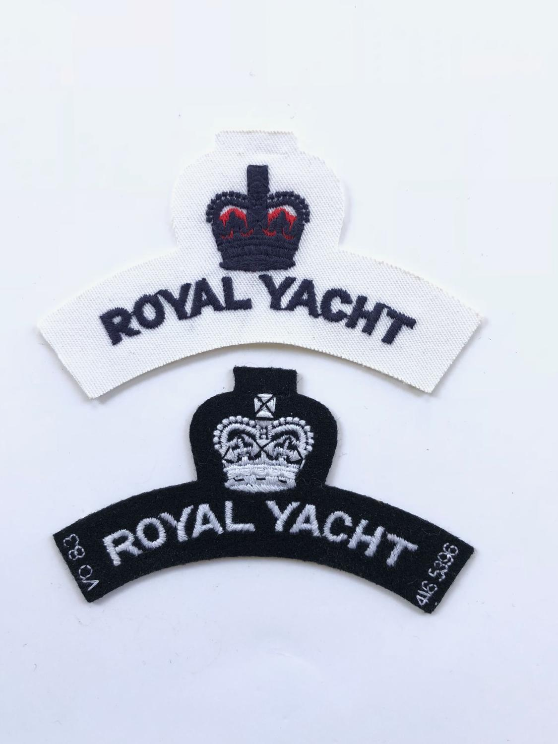 Elizabeth II Royal Navy Royal Yacht Cloth Shoulder Titles