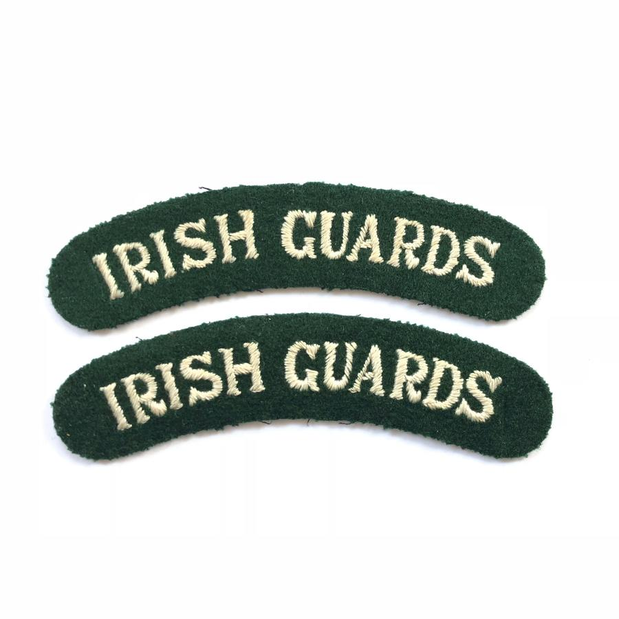 WW2 Period Irish Guards Cloth Shoulder Titles.