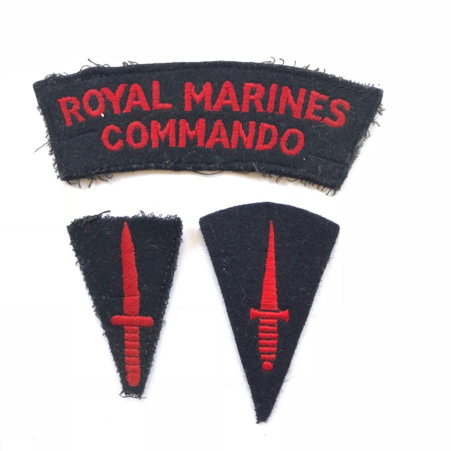 Royal Marines Cloth Badges.