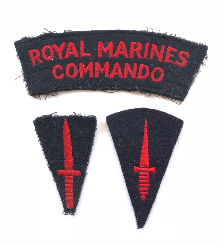 Royal Marines Cloth Badges.