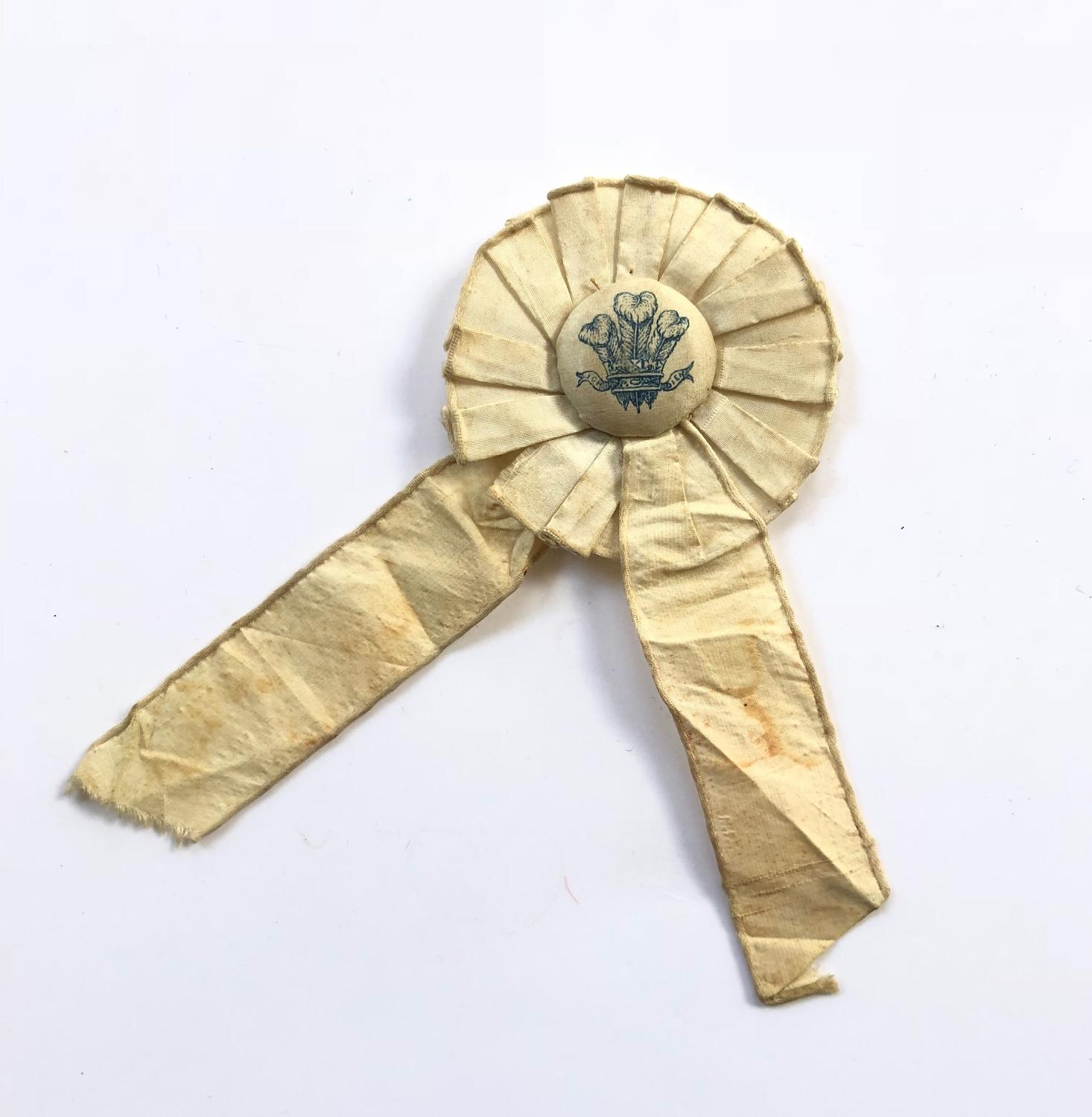 WW1 Period Flag Day Collectors Rosette Badge.