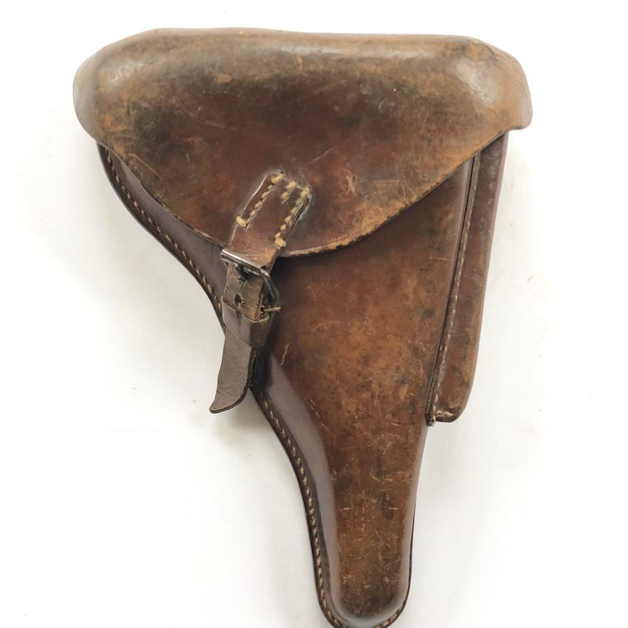WW1 Imperial German 1916 Brown Leather Luger Pistol Holster.