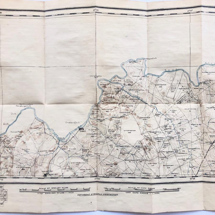 Boer War 1st Bn Royal Welsh Fusiliers 1901 Map