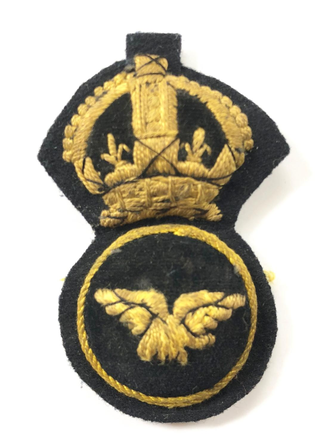 RAF 1918 1st pattern NCO's embroidered cap badge.