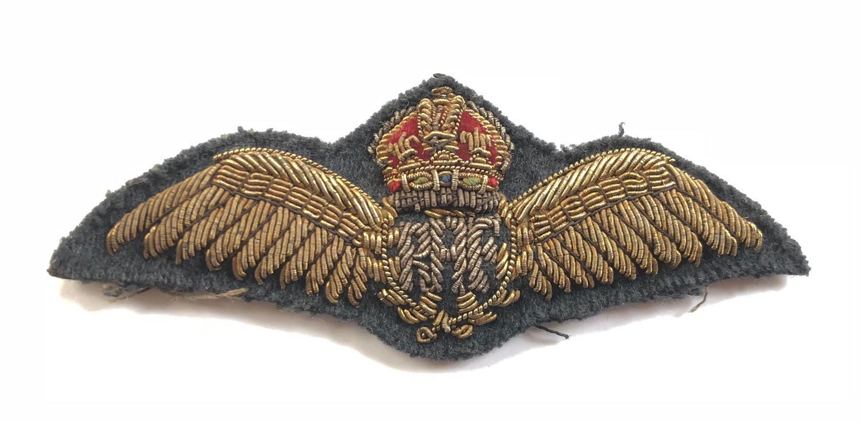Royal Air Force RAF Bullion Pilot Wings.