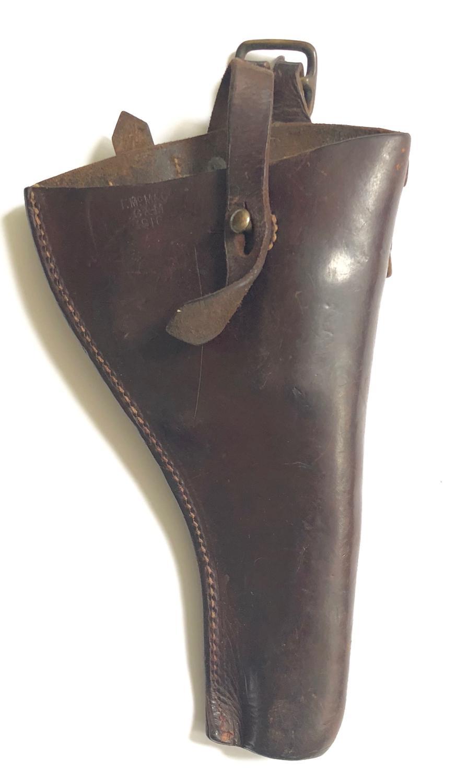 WW1 1914 Leather Equipment 1916 Pistol Holster.