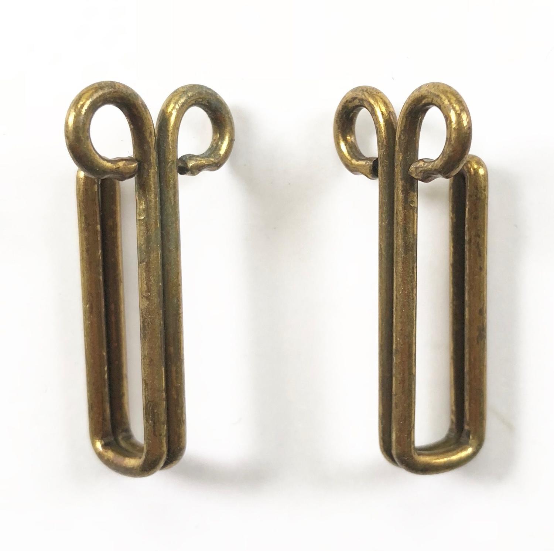 WW1 / WW2 Uniform Brass Belt Hooks