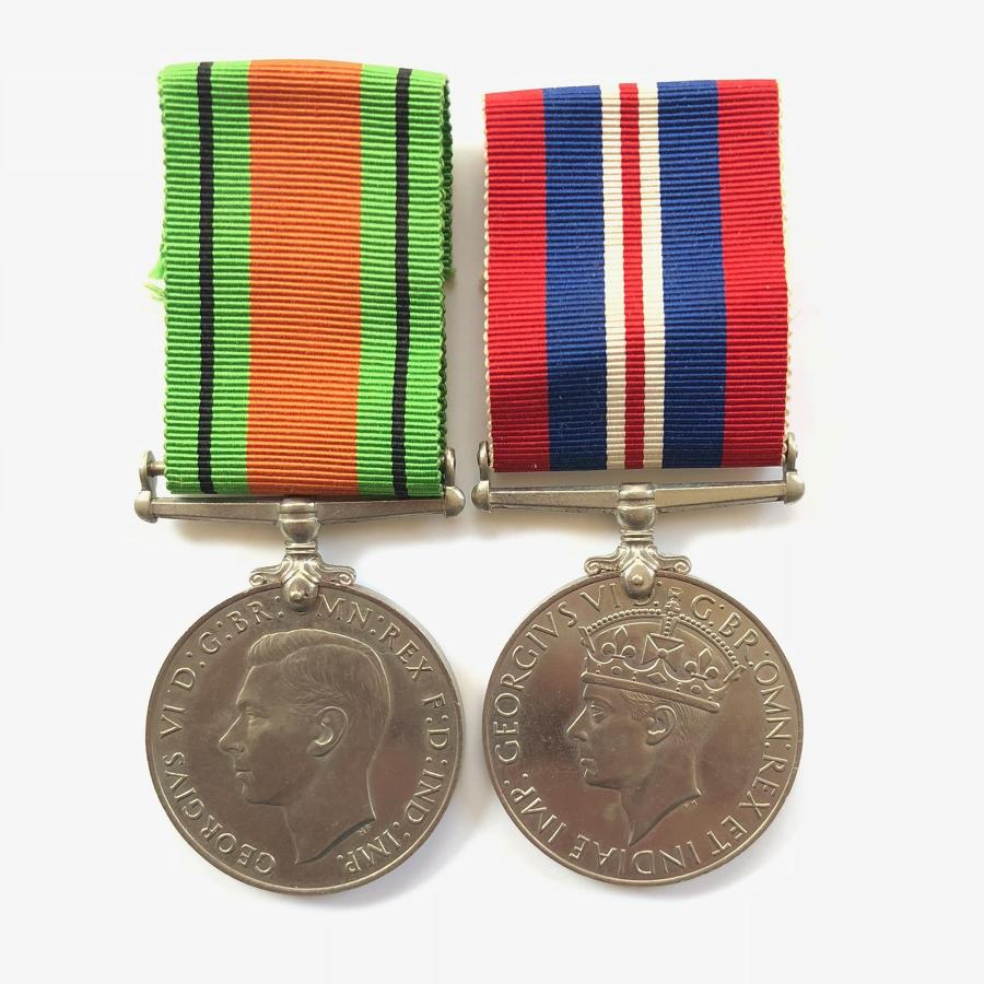 WW2 Defence & War Medal Pair