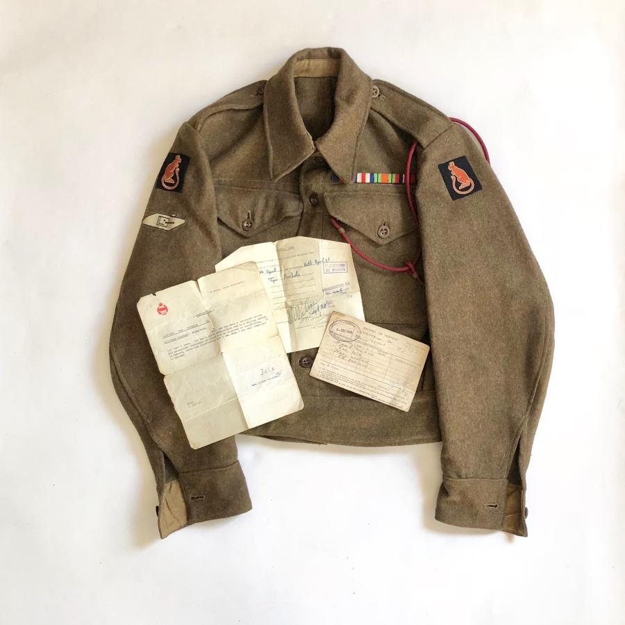 WW2 1st Royal Tank Regiment Attributed Battledress Blouse.