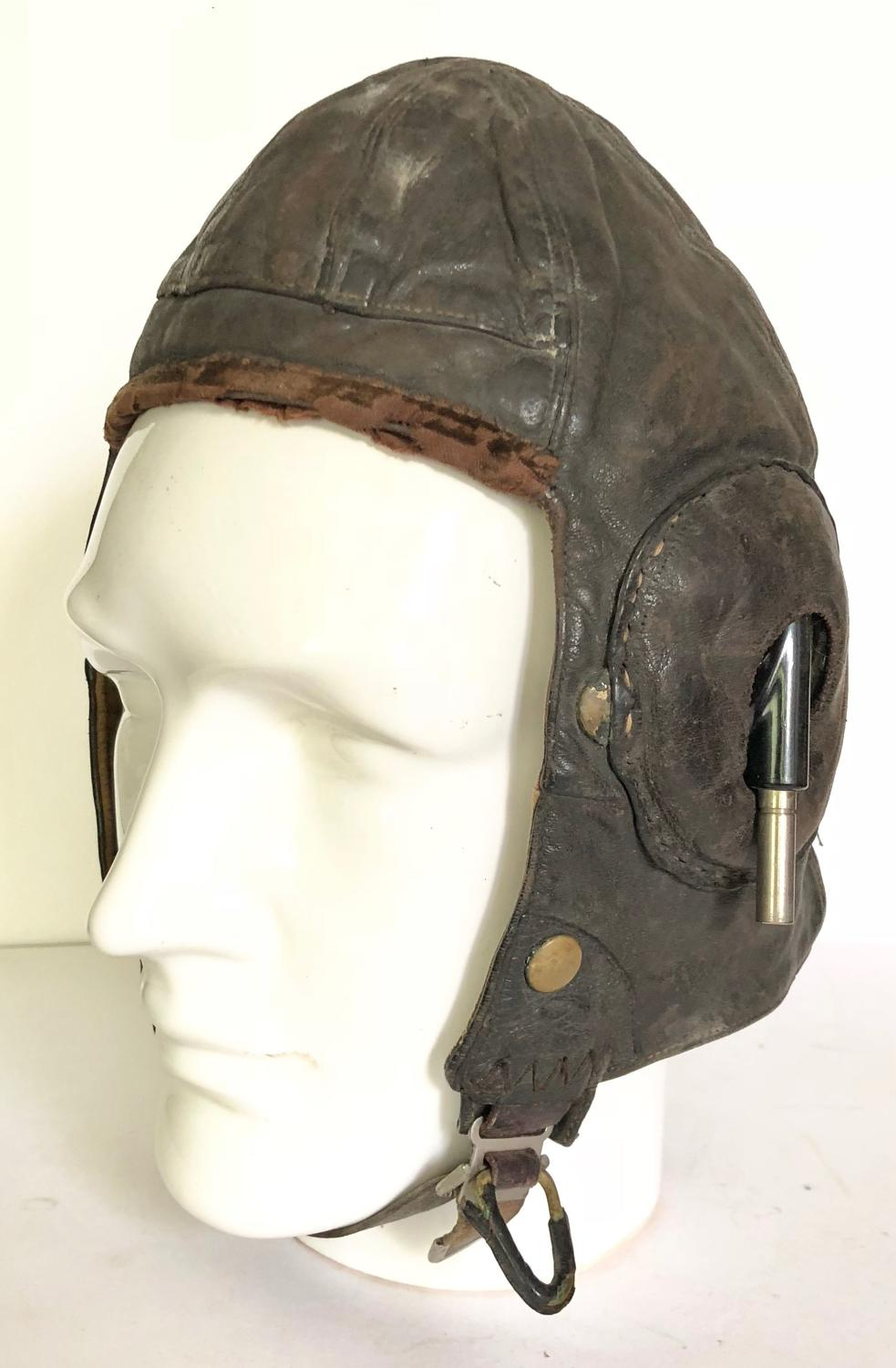 WW2 RAF 1939 Dated Unusual B Type Flying Helmet.