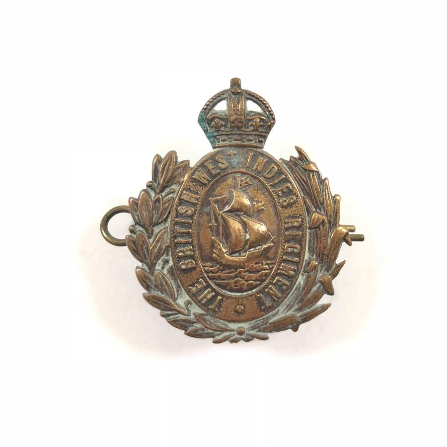 WW1 The British West Indies REgiment Cap Badge by Gaunt London