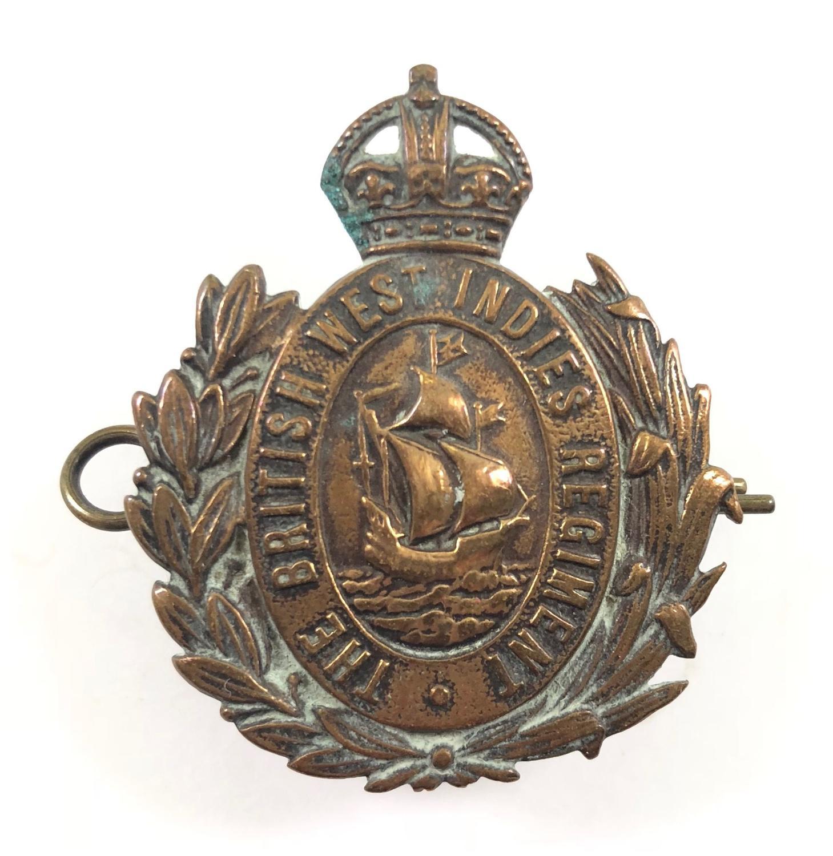 WW1 The British West Indies REgiment Cap Badge by Gaunt London