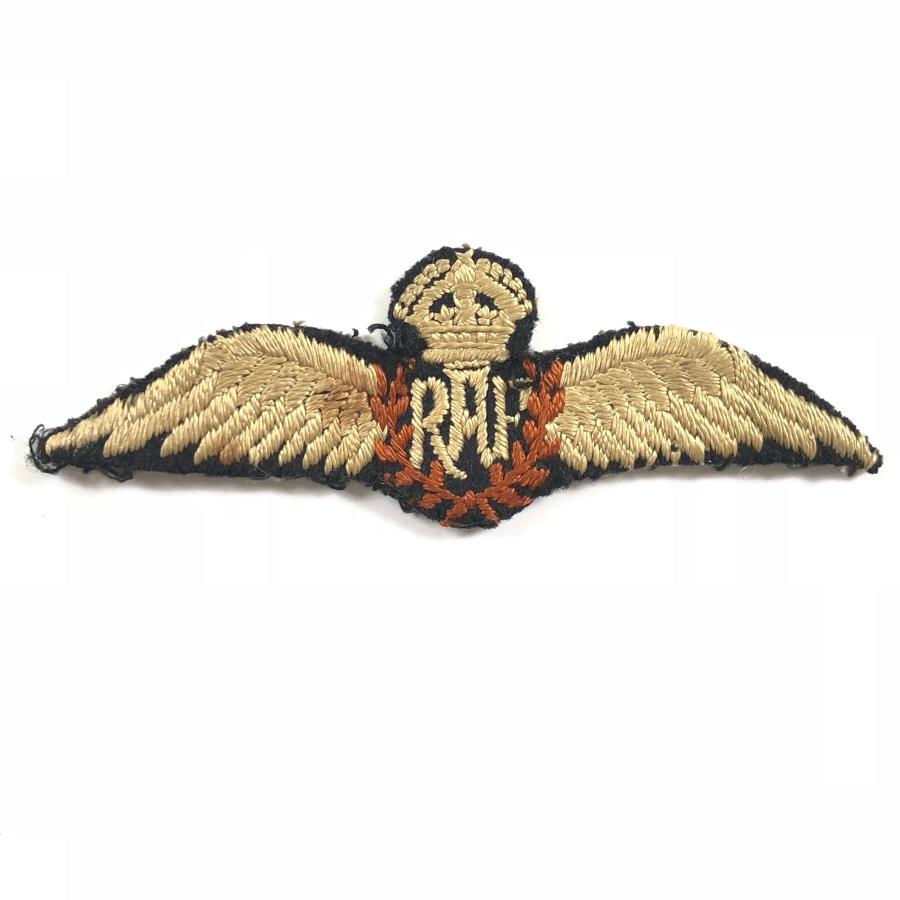 RAF Inter War Early WW2 Style Pilot Wings.