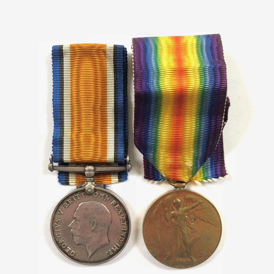 WW1 Finsbury Rifles / Northumberland Fusiliers 1917 Casualty Medals