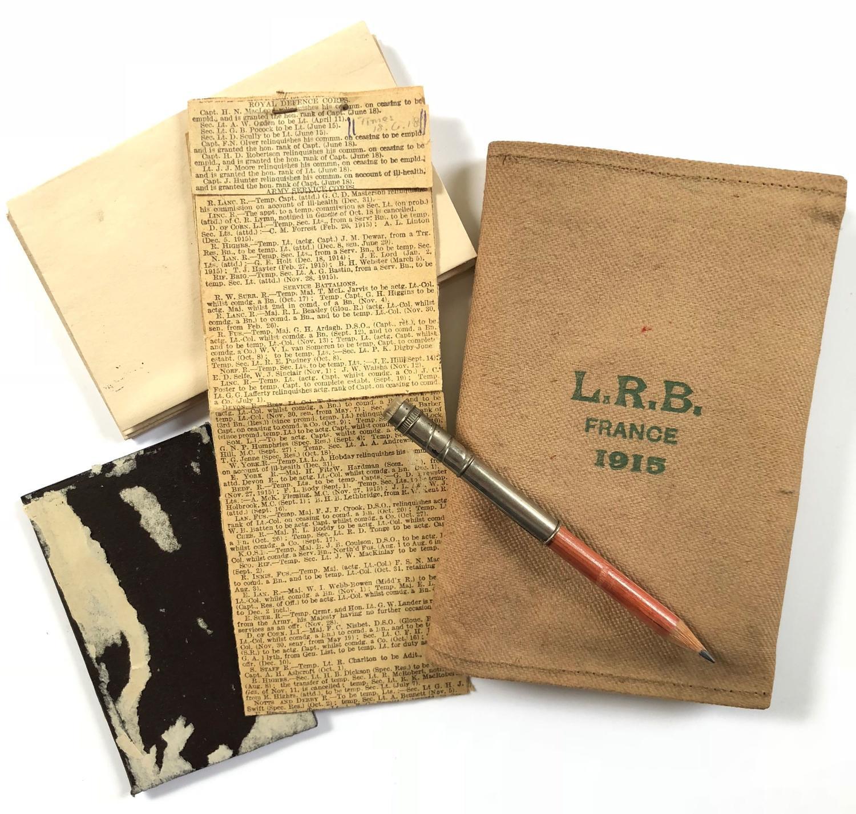 WW1 London Rifle Brigade Gift Writing Set.