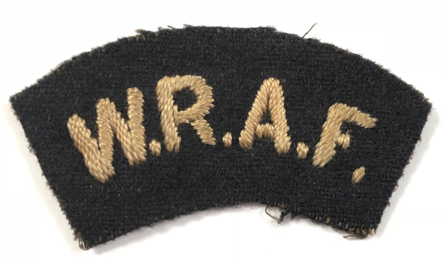 WW1 1918 Womens Royal Air Force Shoulder Title. Badge
