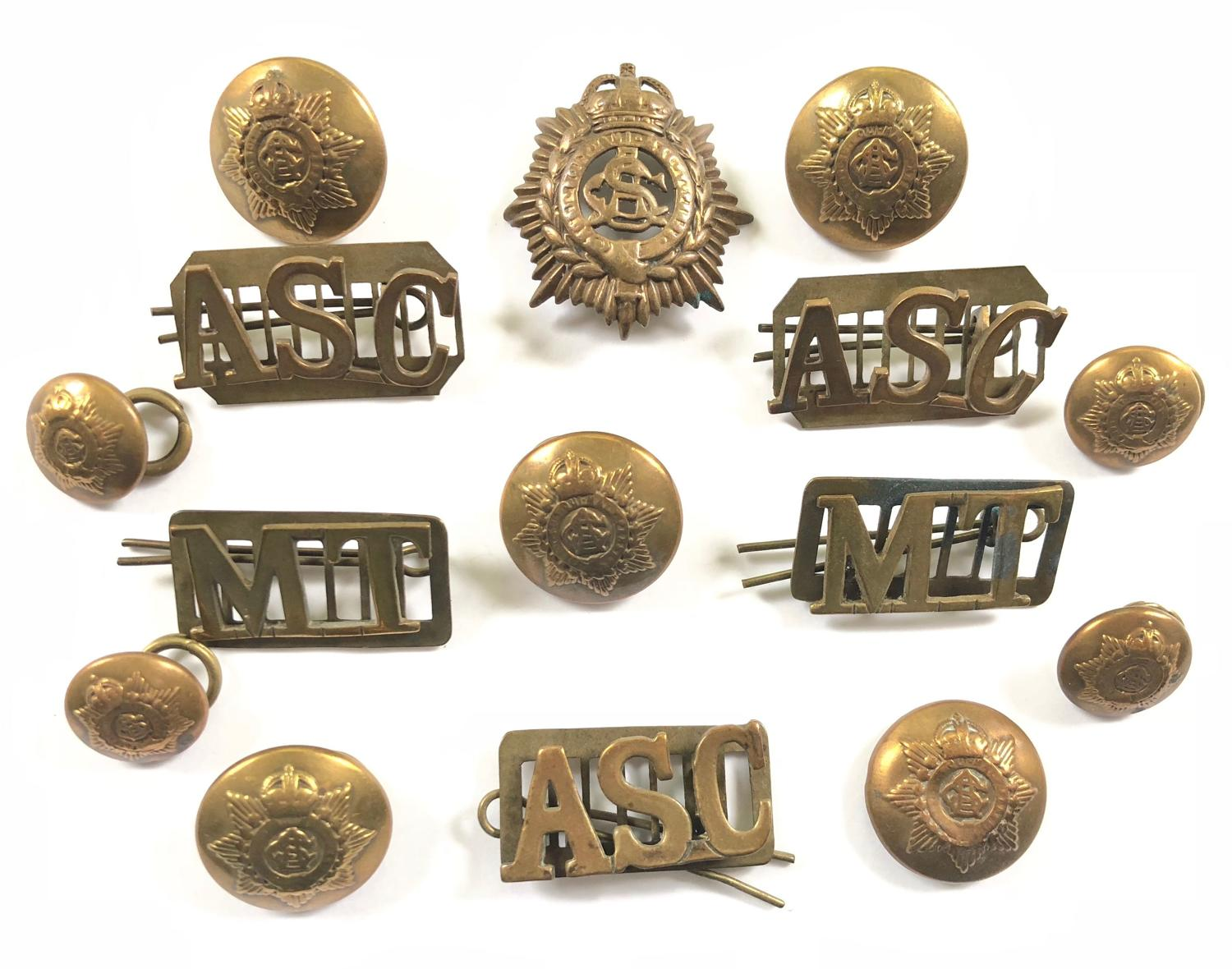 WW1 Army Service Corps Uniform Badges & Buttons.