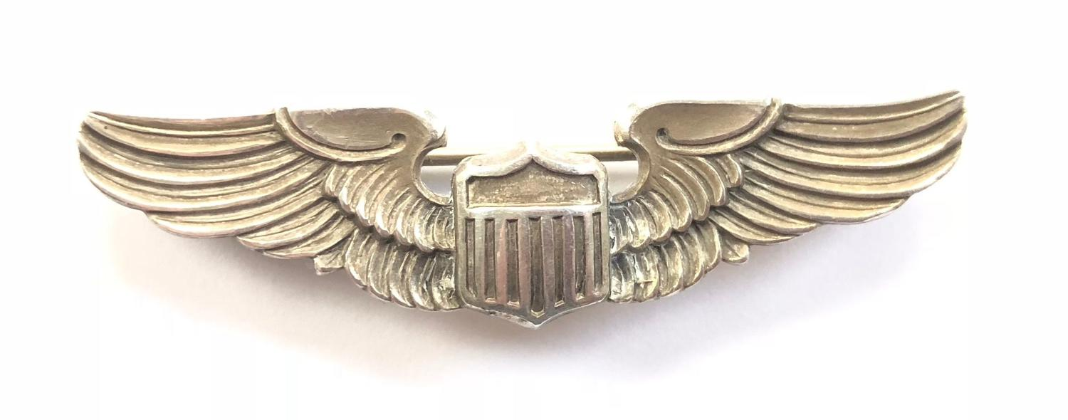 US Air Force Miniature Silver Pilot Wings