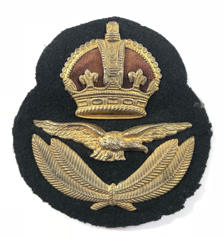 WW1 1918 RAF 1st Pattern Officer's Cap Badge by Gaunt