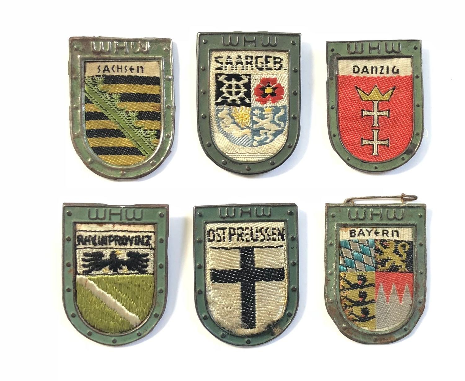WW2 Nazi German Winter Help Fundraising Tinnie Badges.