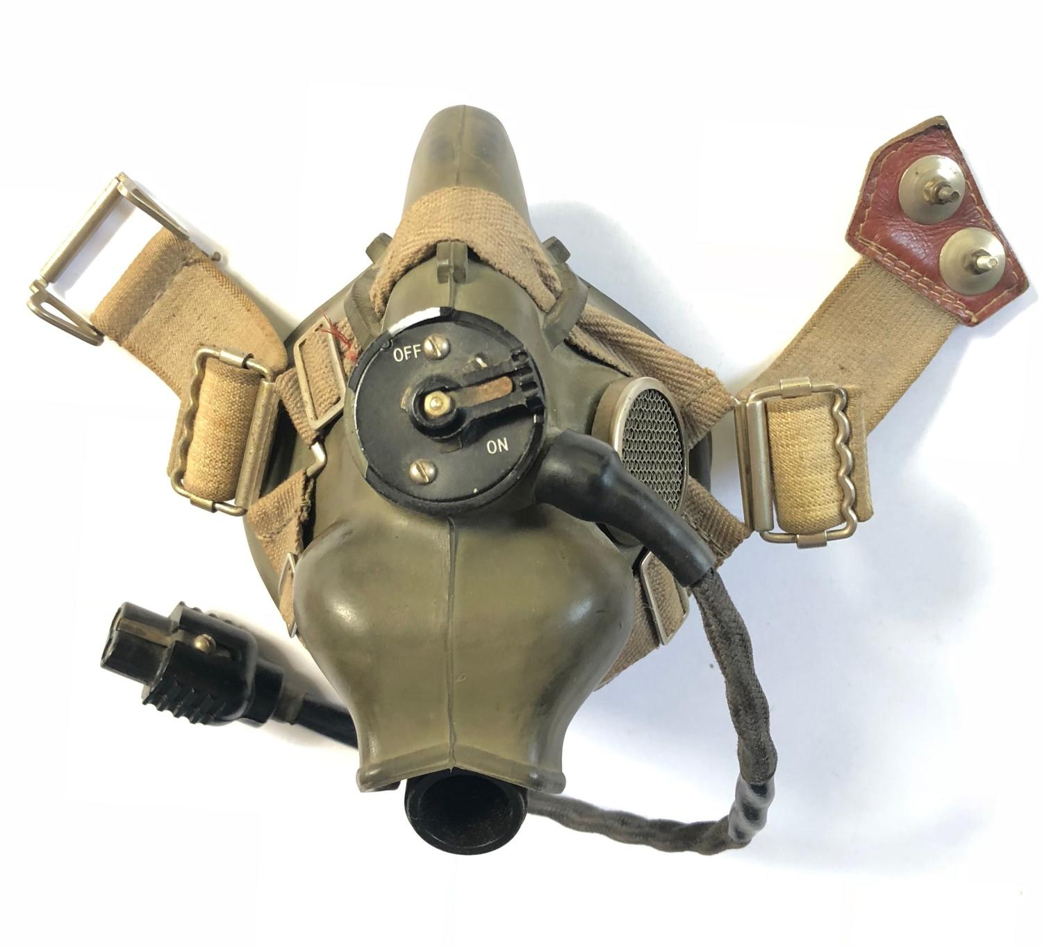 "WW2 Pattern Cold War RAF Aircrew ""H"" Type Oxygen Mask."