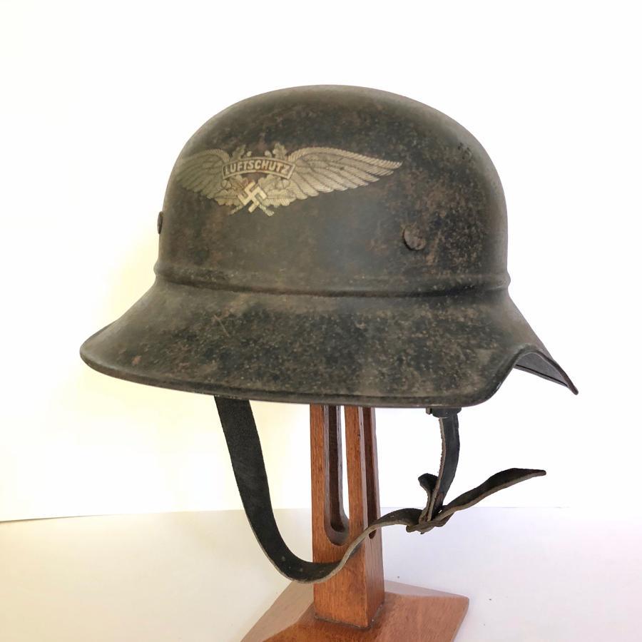 German Third Reich WW2 Luftschutz Shell Hemet.