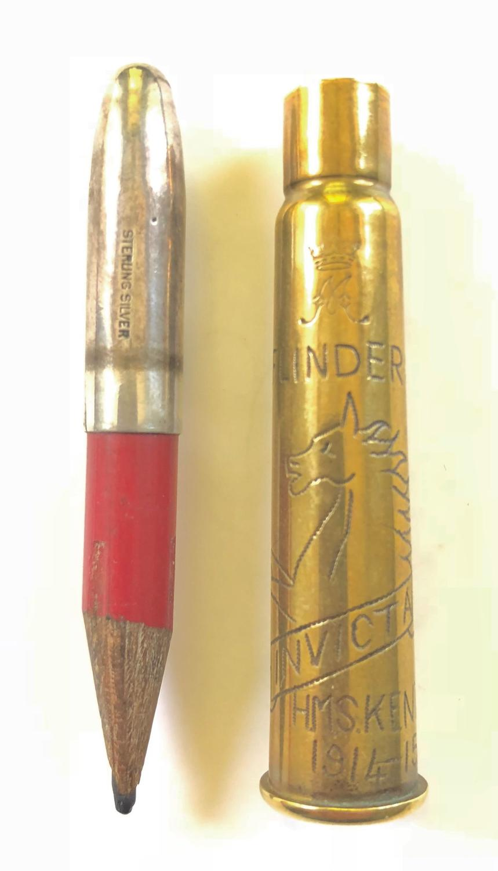 WW1 Original Christmas 1914 Princess Mary Pencil Attributed HMS Kent.