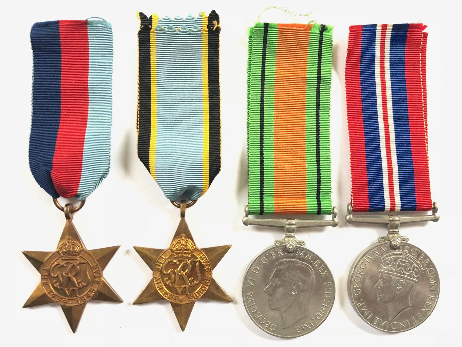 WW2 Aircrew Europe Star Group of Four Medals.