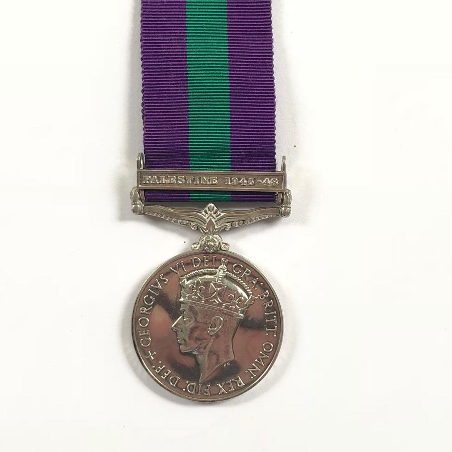 "REME General Service Medal Clasp ""Palestine 1945-48"""