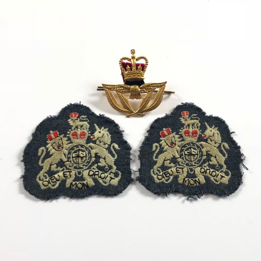 RAF Cold War Period Warrant Officer Rank & Beret Badge.