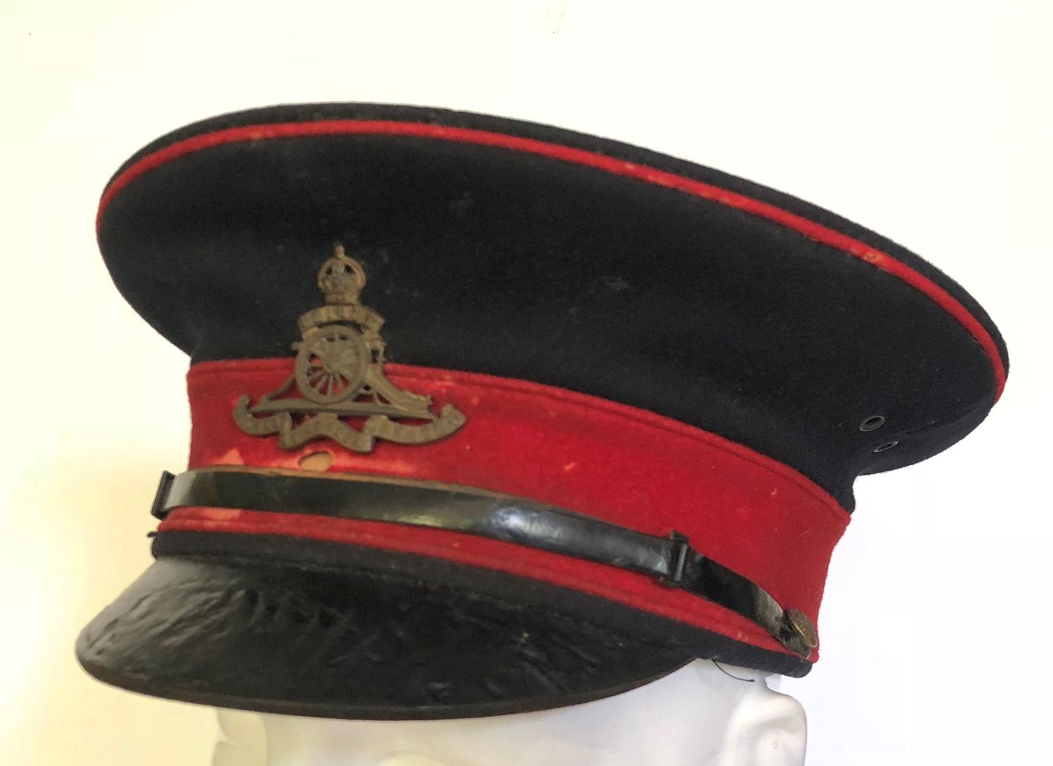Edwardian Royal Artillery Other Ranks Dress Cap.