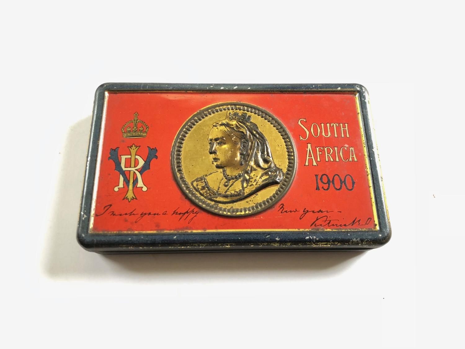 Boer War South Africa 1900 Queen Victoria Chocolate Tin