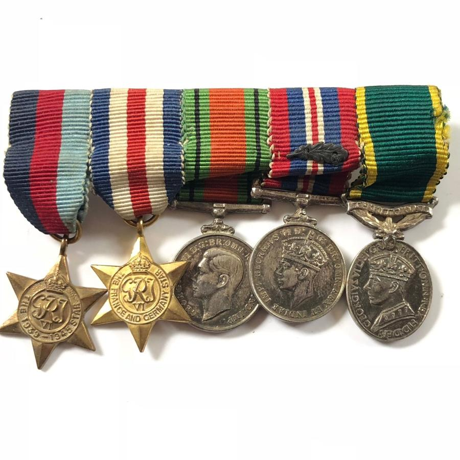 "WW2 Territorial Efficiency Medal""MID"" MINIATURE Medal Group"