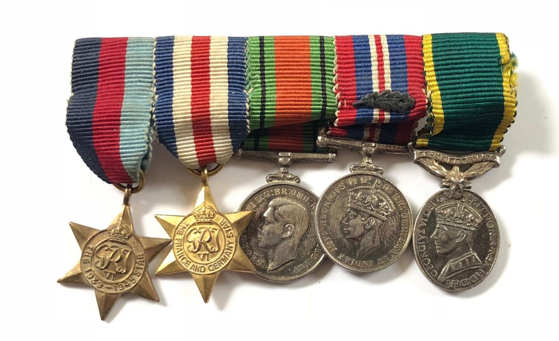 "WW2 Territorial Efficiency Medal""MID"" MINIATURE Medal Group"