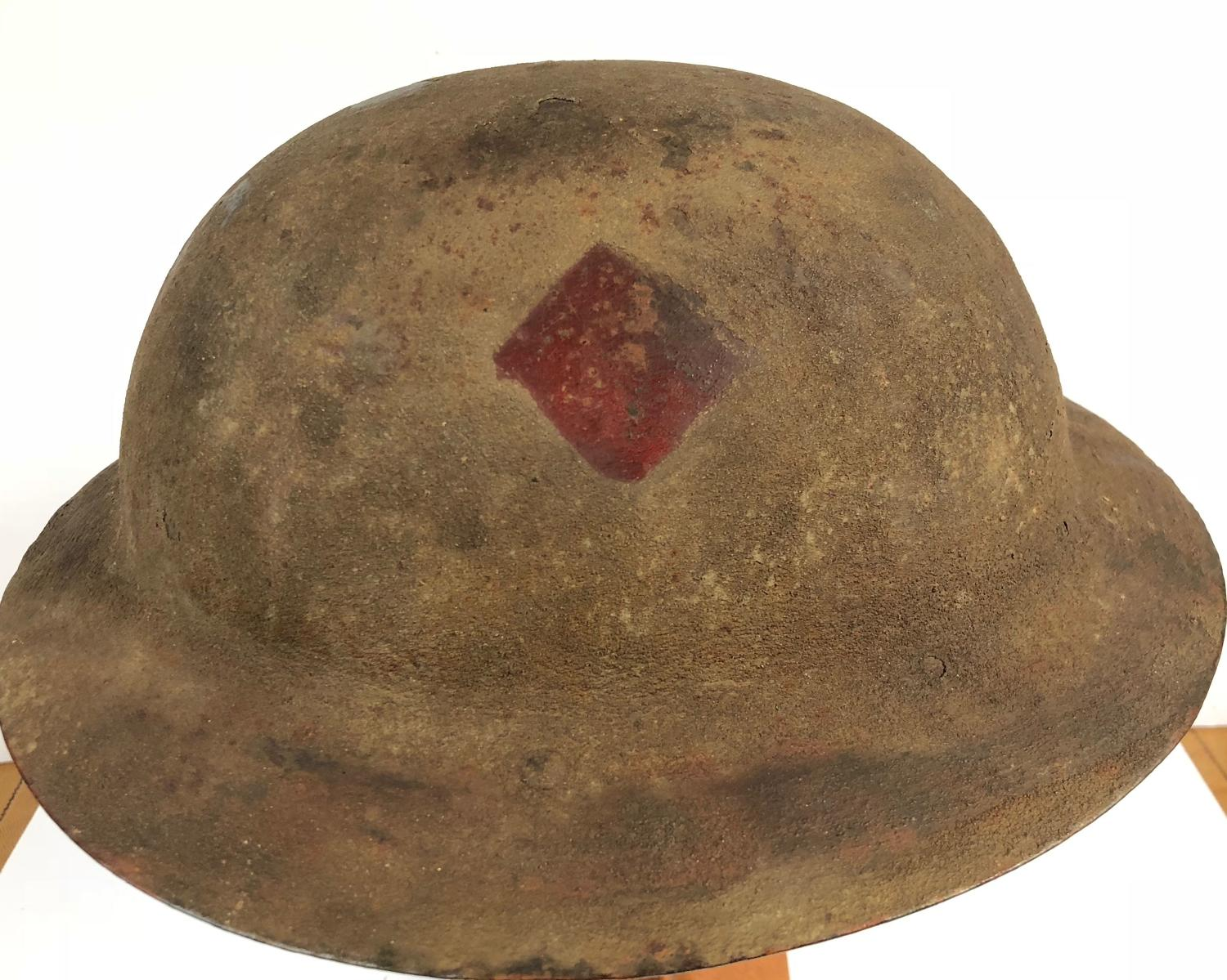 WW1 Battle of the Somme Period Brodie Steel Helmet Circa 1916.