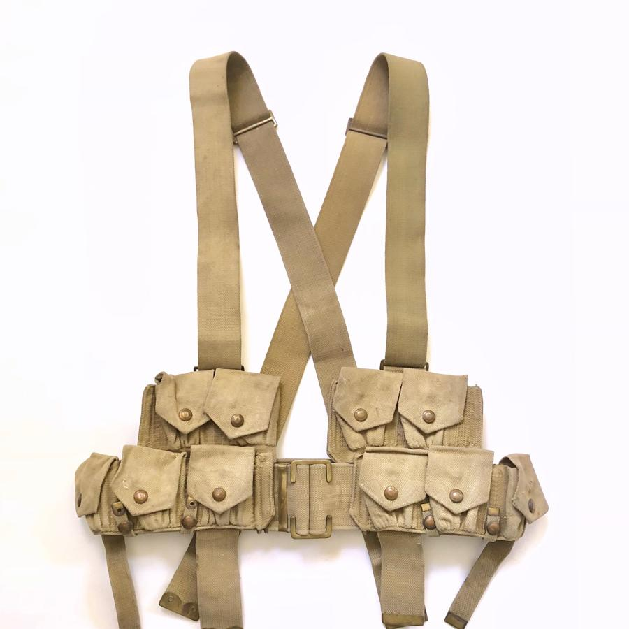 WW1 Battle of the Somme 1916 Period 1908 Webbing.