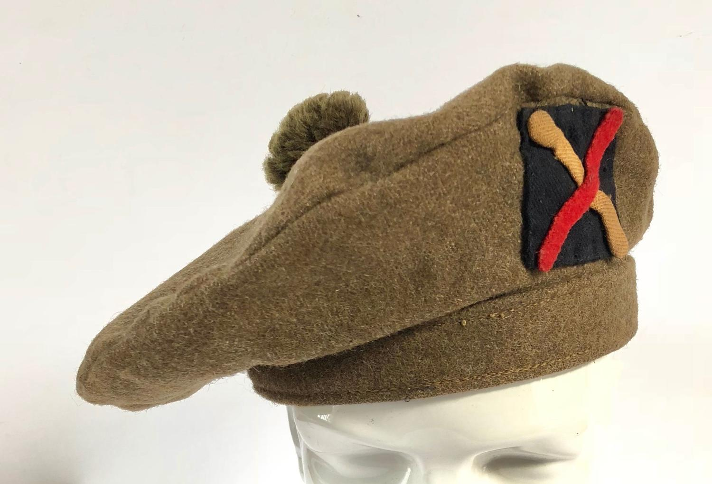 WW2 Fife & Forfar Yeomanry Tam o'Shanter Scottish Bonnet.