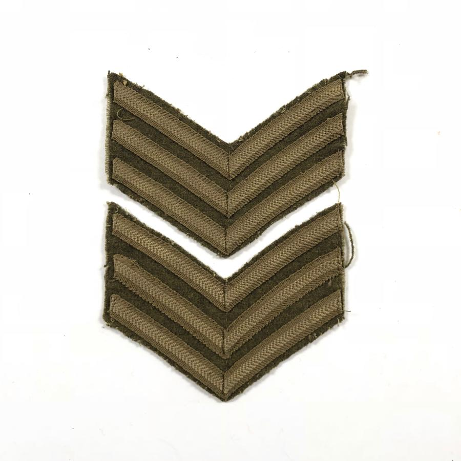 WW1 / WW2 Pattern British Army Sergeant Chevrons.