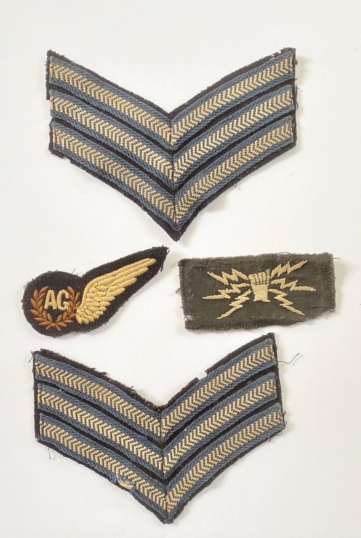 WW2 Period RAF Wireless Operator Air Gunner Battledress / Uniform Badg